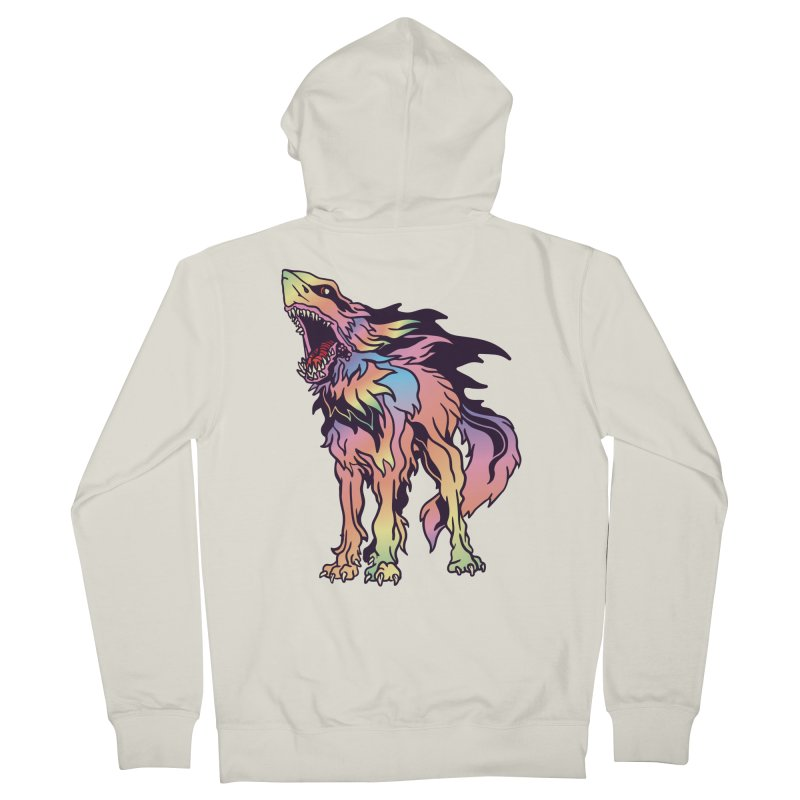 Shark Wolf Spectrum Women's French Terry Zip-Up Hoody by My Metal Hand Artist Shop