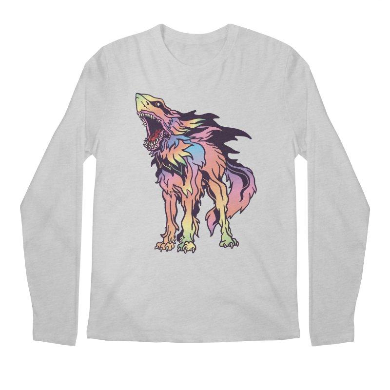 Shark Wolf Spectrum Men's Regular Longsleeve T-Shirt by My Metal Hand Artist Shop