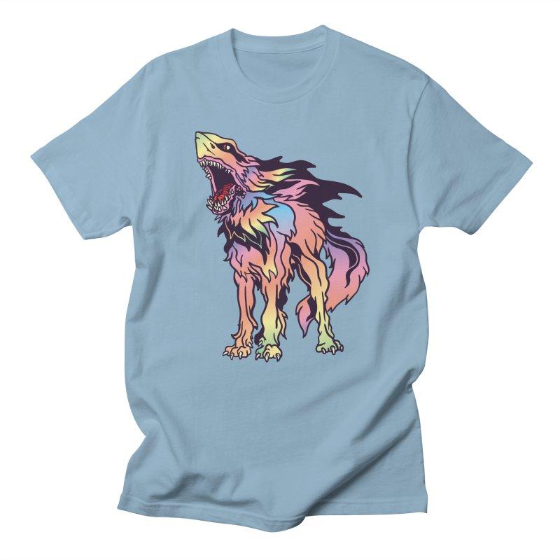 Shark Wolf Spectrum Men's Regular T-Shirt by My Metal Hand Artist Shop