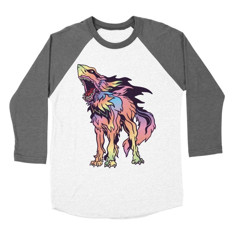 Shark Wolf Spectrum Women's Baseball Triblend Longsleeve T-Shirt by My Metal Hand Artist Shop