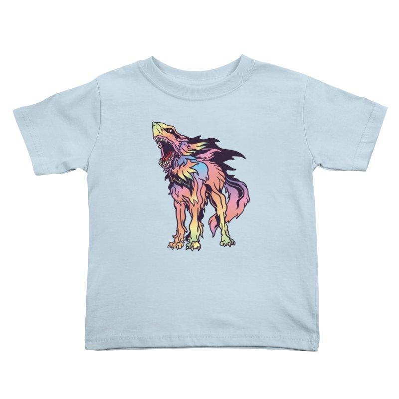 Shark Wolf Spectrum Kids Toddler T-Shirt by My Metal Hand Artist Shop