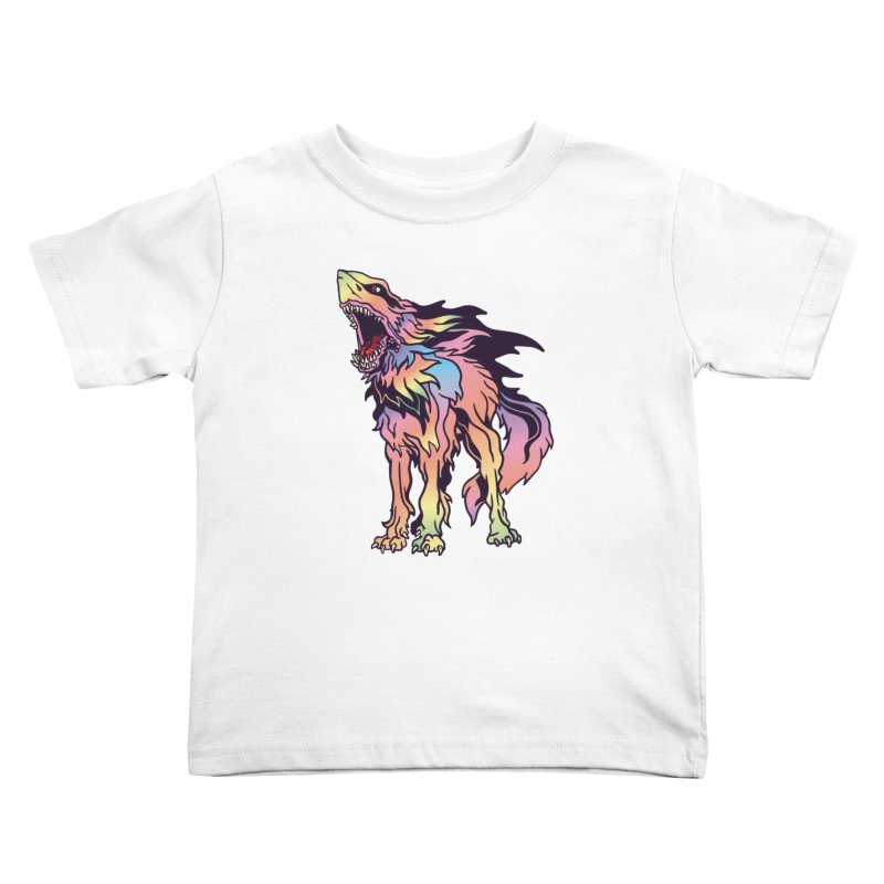 Shark Wolf Spectrum Kids Toddler T-Shirt by My Metal Hand Artist Shop