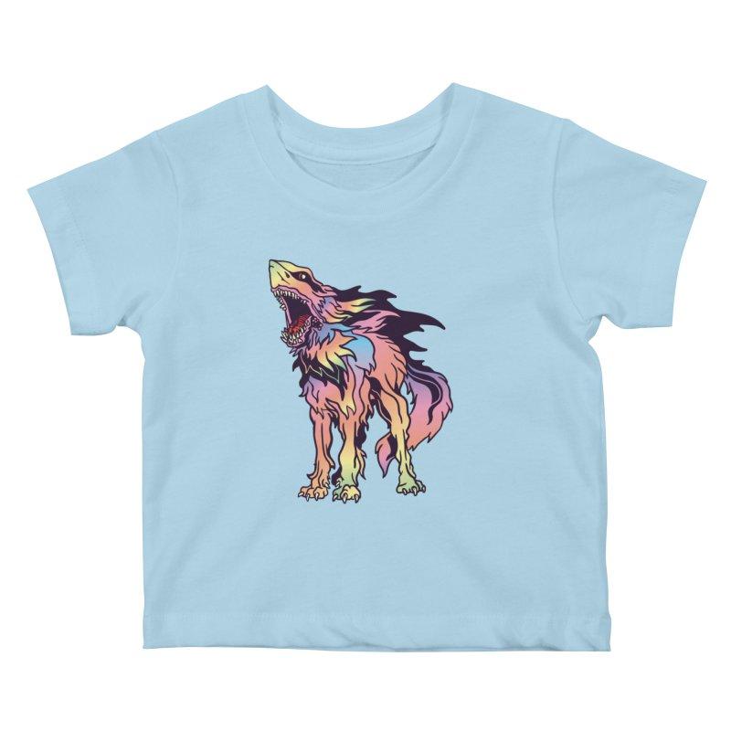 Shark Wolf Spectrum Kids Baby T-Shirt by My Metal Hand Artist Shop