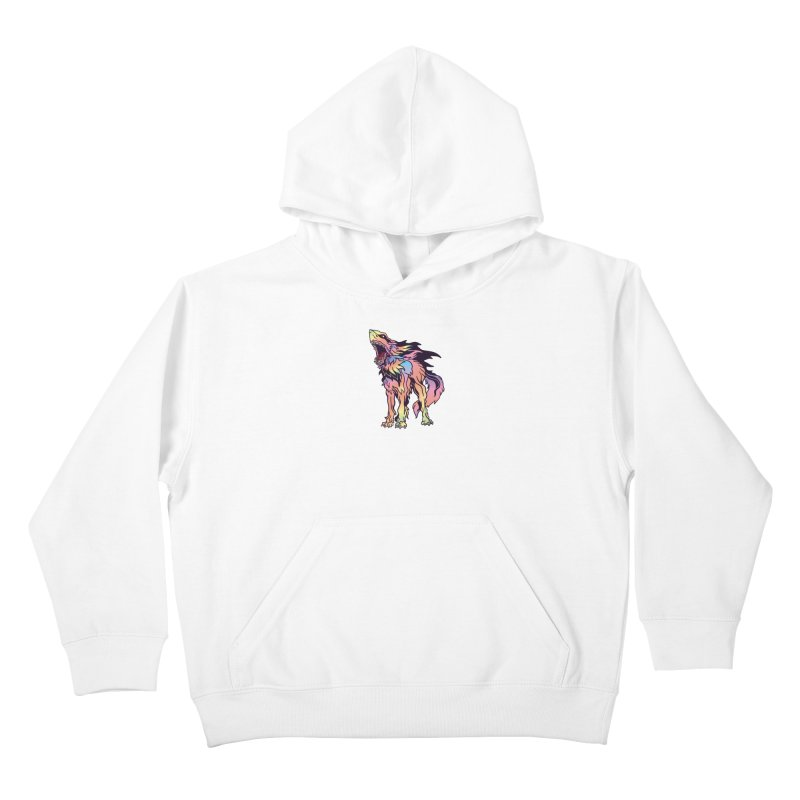 Shark Wolf Spectrum Kids Pullover Hoody by My Metal Hand Artist Shop