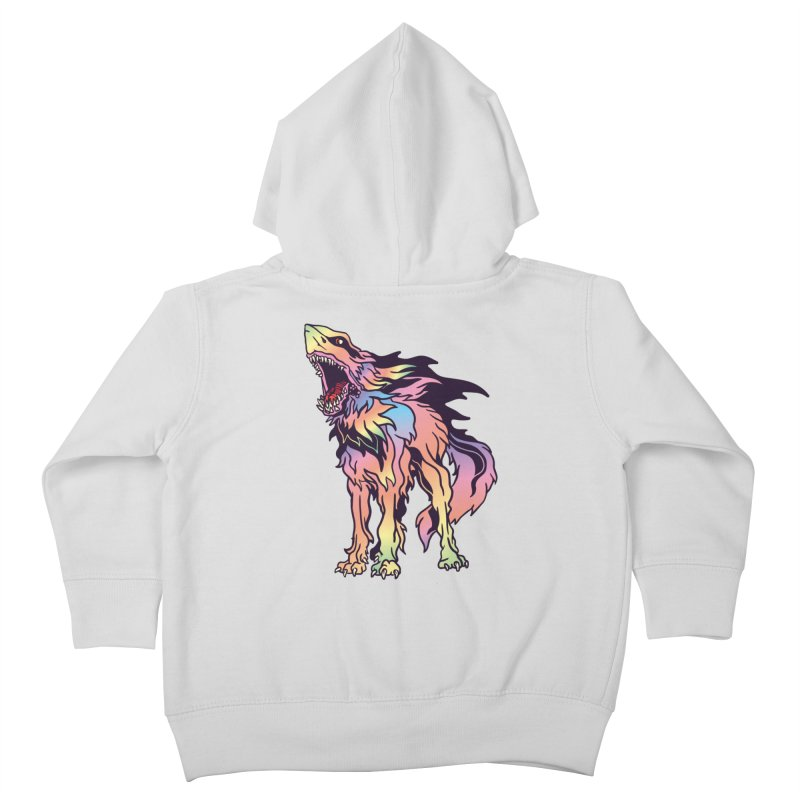 Shark Wolf Spectrum Kids Toddler Zip-Up Hoody by My Metal Hand Artist Shop