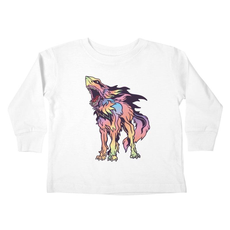 Shark Wolf Spectrum Kids Toddler Longsleeve T-Shirt by My Metal Hand Artist Shop