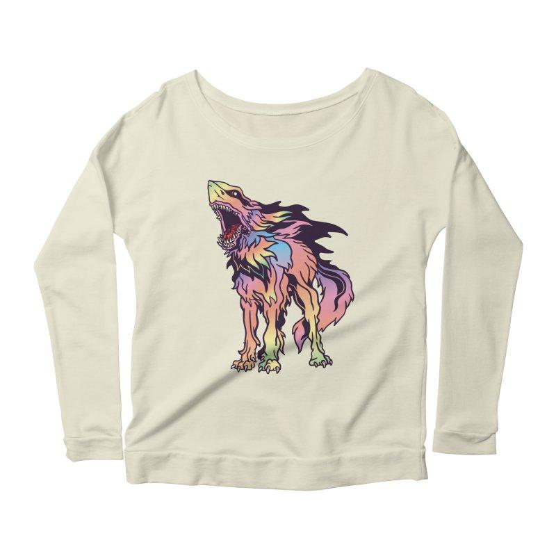 Shark Wolf Spectrum Women's Scoop Neck Longsleeve T-Shirt by My Metal Hand Artist Shop