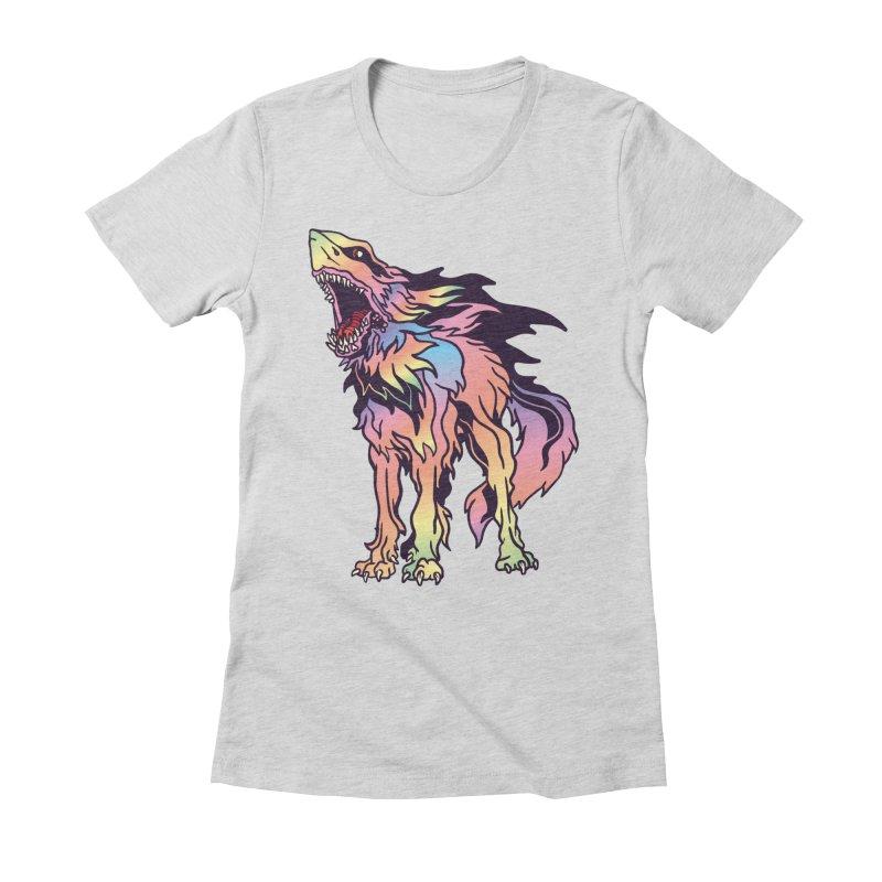 Shark Wolf Spectrum Women's Fitted T-Shirt by My Metal Hand Artist Shop