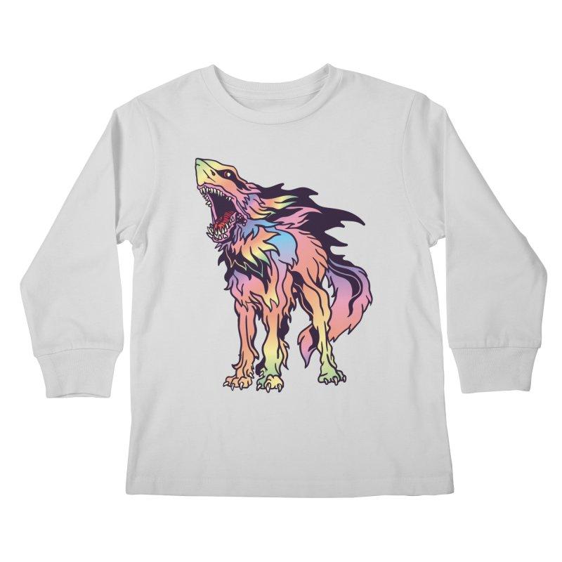 Shark Wolf Spectrum Kids Longsleeve T-Shirt by My Metal Hand Artist Shop