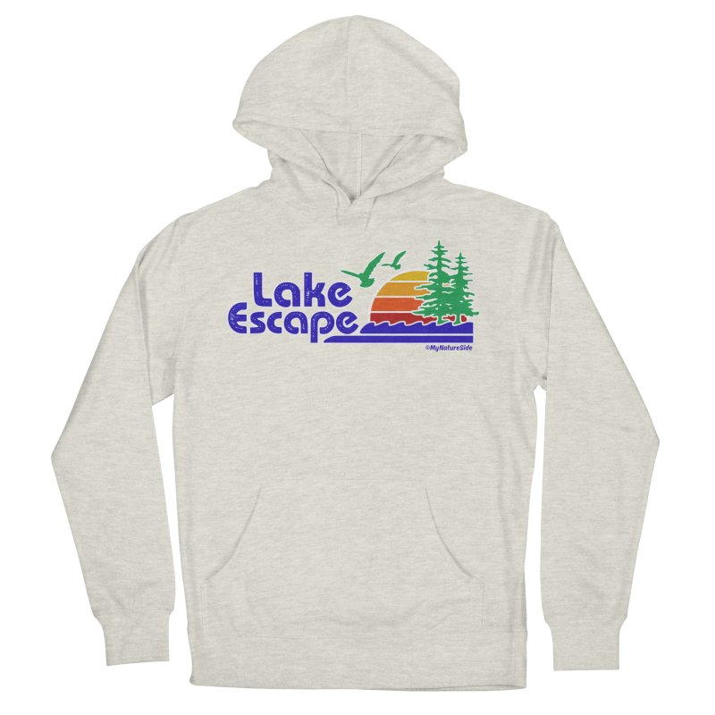Lake Escape Women's French Terry Pullover Hoody by My Nature Side