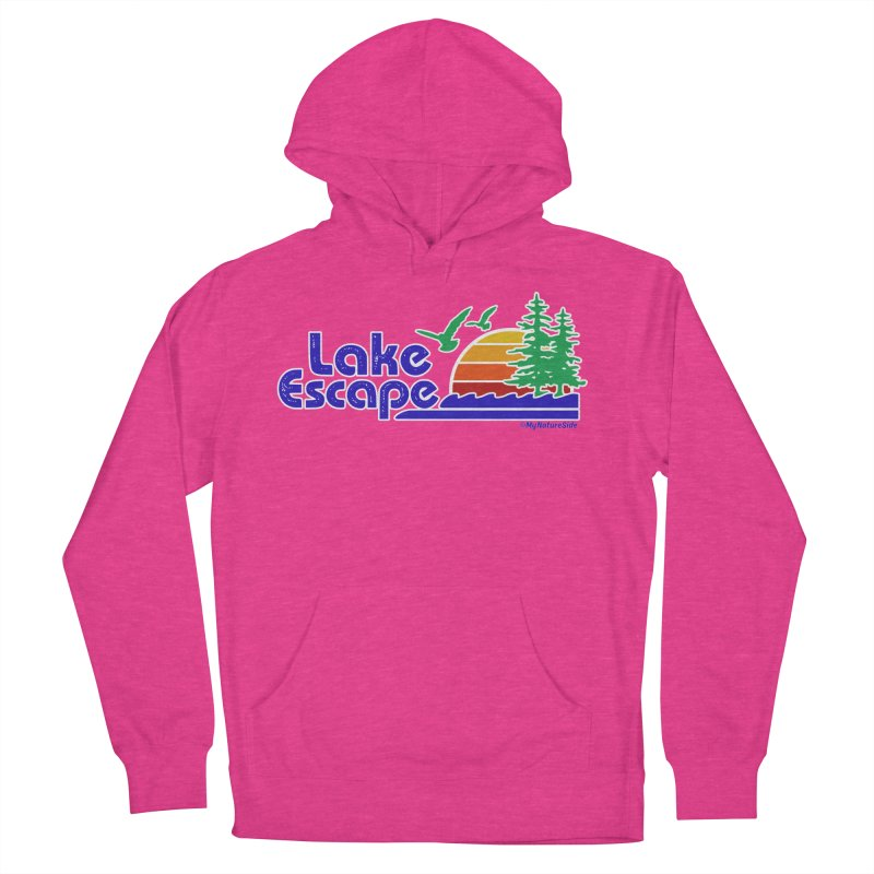 Lake Escape Men's French Terry Pullover Hoody by My Nature Side