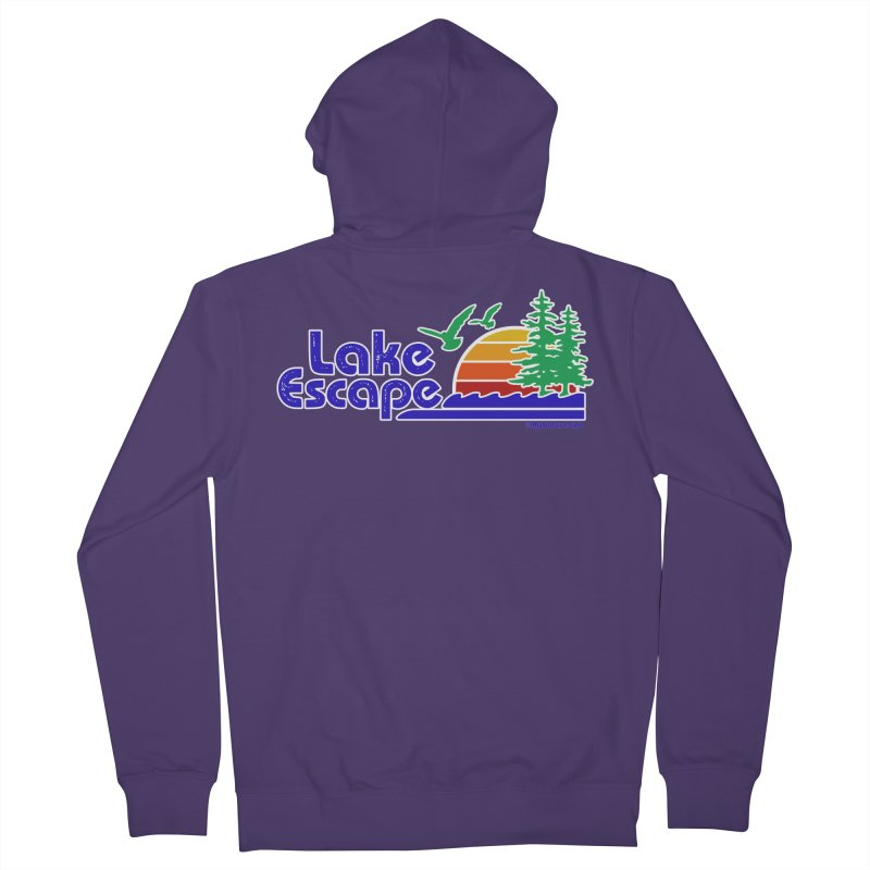 Lake Escape Women's French Terry Zip-Up Hoody by My Nature Side