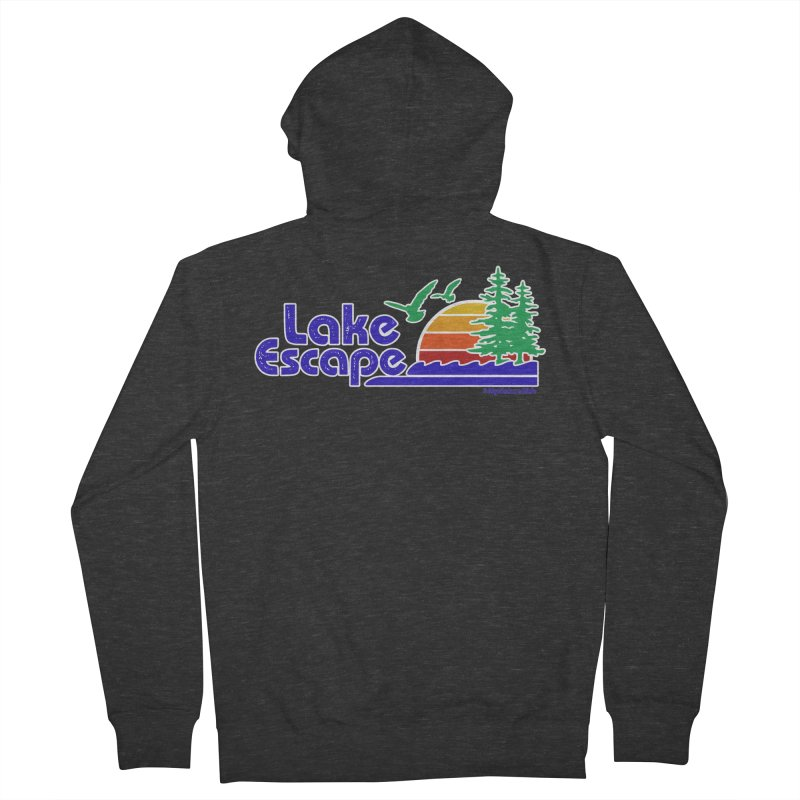Lake Escape Men's French Terry Zip-Up Hoody by My Nature Side