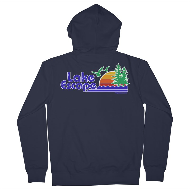 Lake Escape Men's Zip-Up Hoody by My Nature Side
