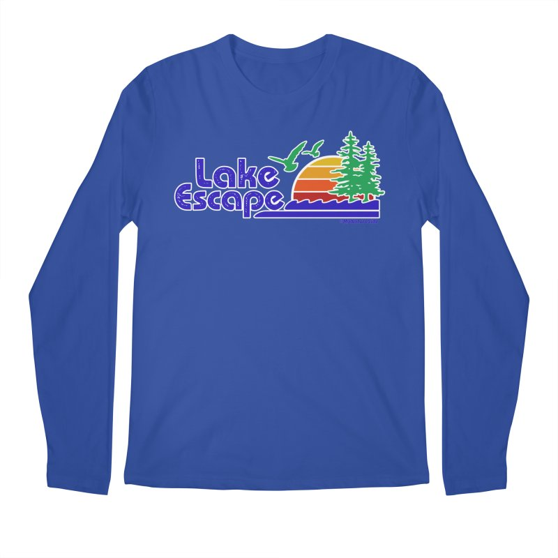 Lake Escape Men's Regular Longsleeve T-Shirt by My Nature Side
