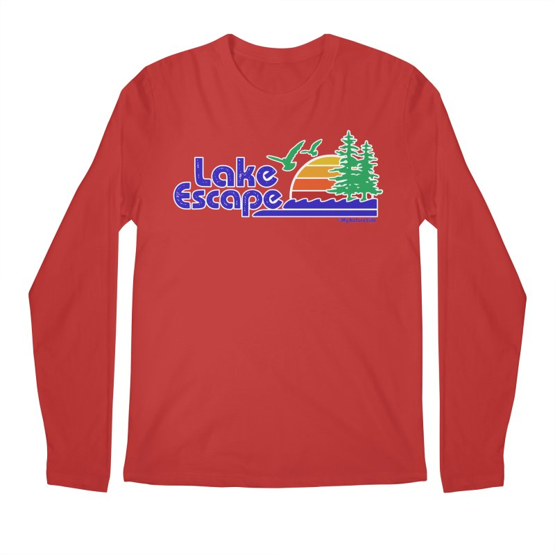 Lake Escape Men's Regular Longsleeve T-Shirt by My Nature Side