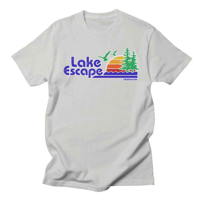 Lake Escape Men's Regular T-Shirt by My Nature Side