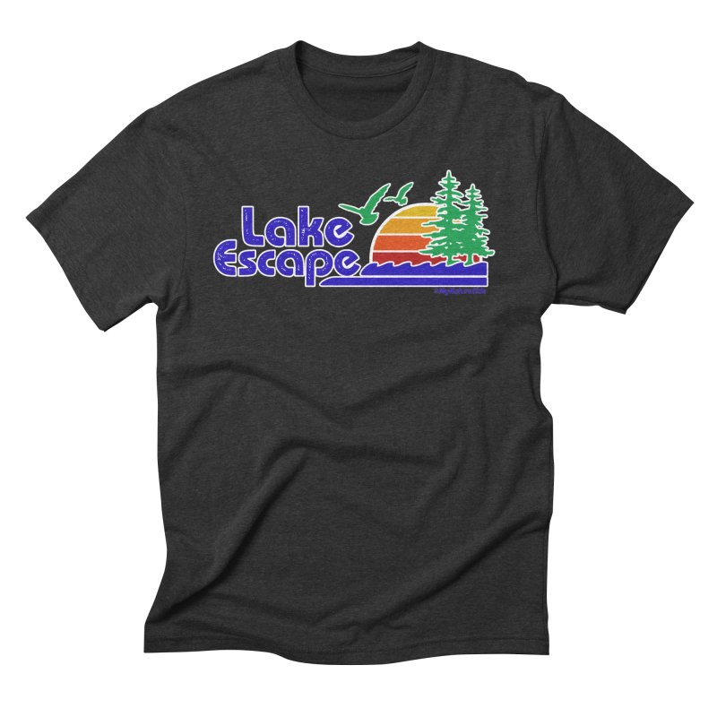 Lake Escape Men's Triblend T-shirt by My Nature Side
