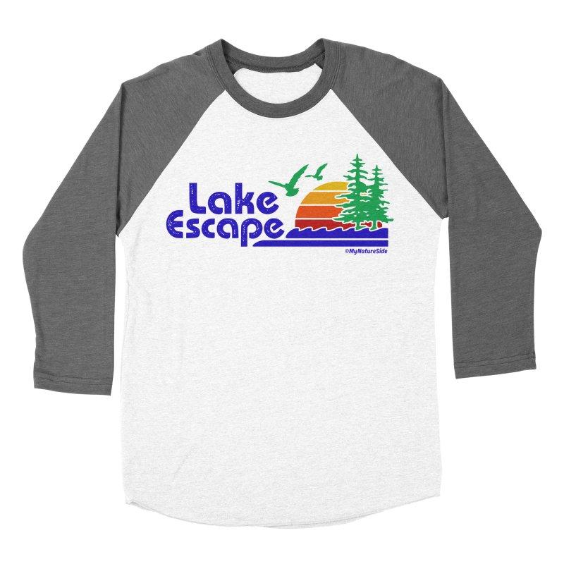 Lake Escape Women's Baseball Triblend Longsleeve T-Shirt by My Nature Side