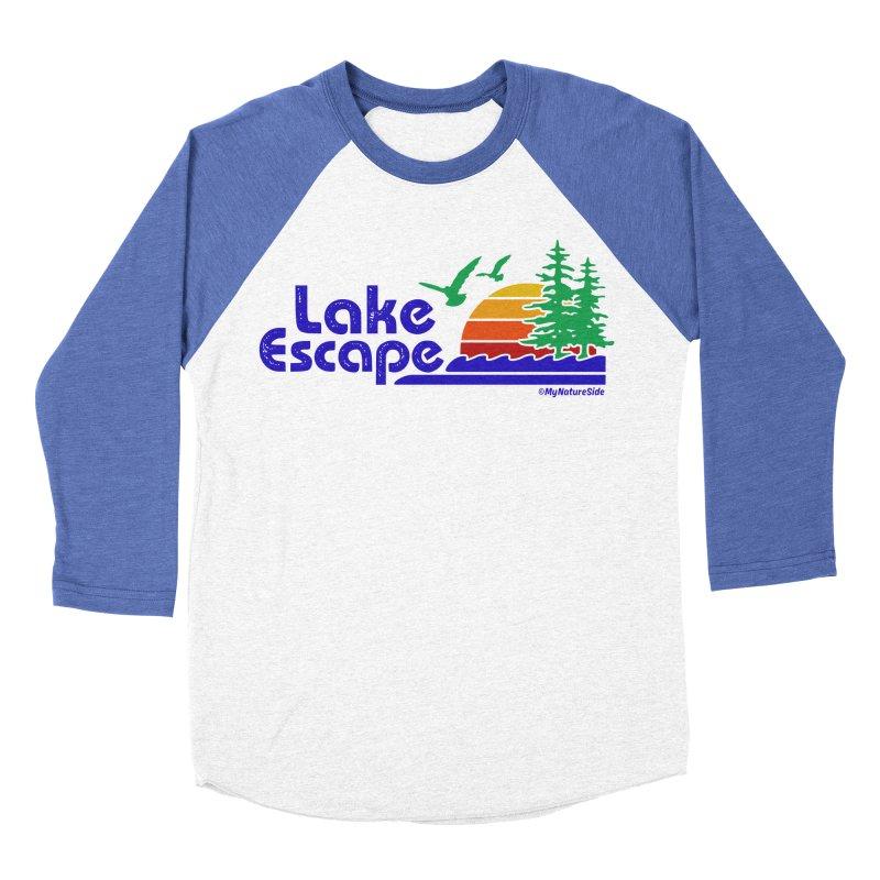 Lake Escape Men's Baseball Triblend Longsleeve T-Shirt by My Nature Side