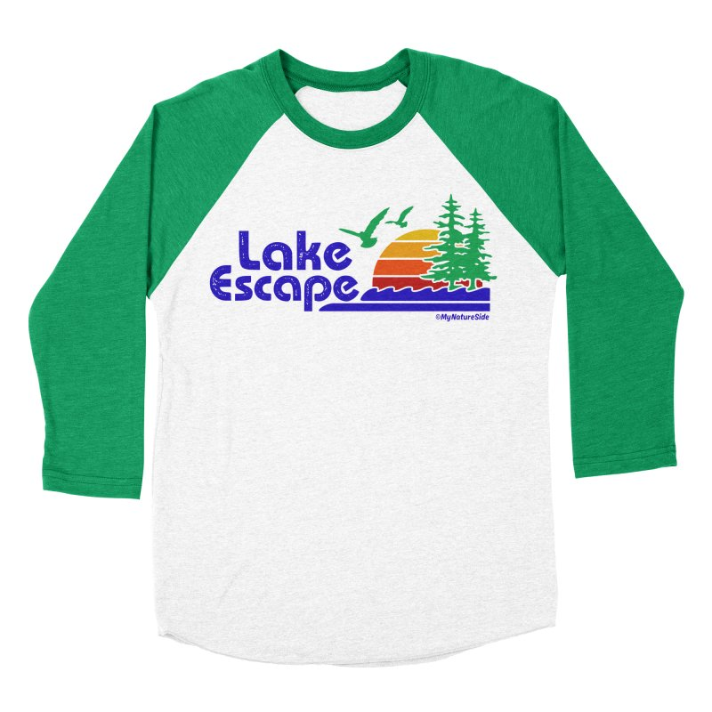 Lake Escape Men's Baseball Triblend Longsleeve T-Shirt by My Nature Side