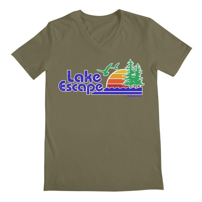 Lake Escape Men's Regular V-Neck by My Nature Side
