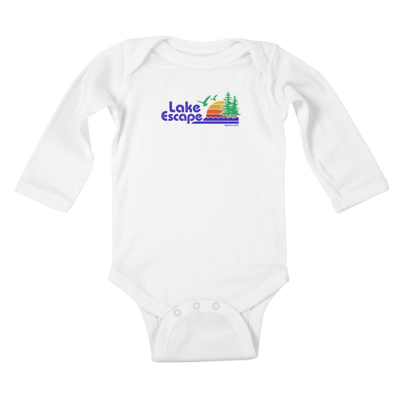 Lake Escape Kids Baby Longsleeve Bodysuit by My Nature Side