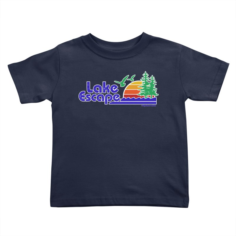 Lake Escape Kids Toddler T-Shirt by My Nature Side