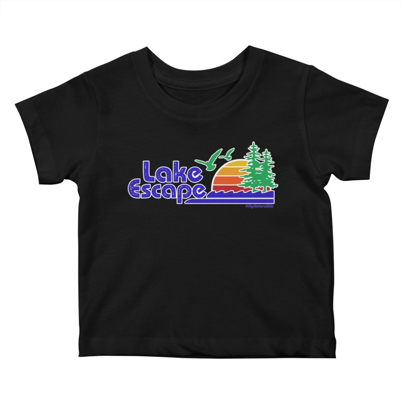 Lake Escape Kids Baby T-Shirt by My Nature Side