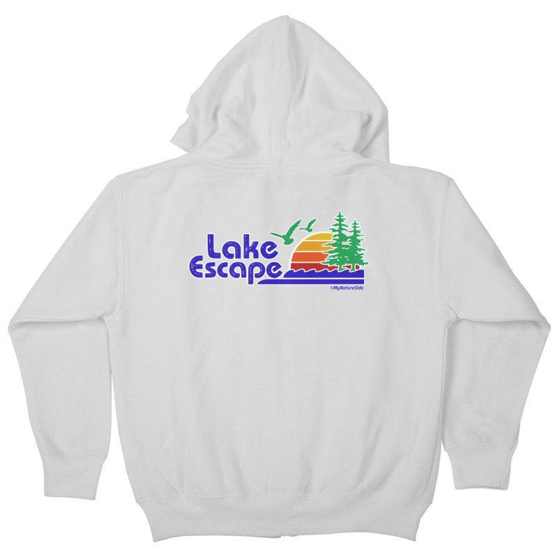 Lake Escape Kids Zip-Up Hoody by My Nature Side