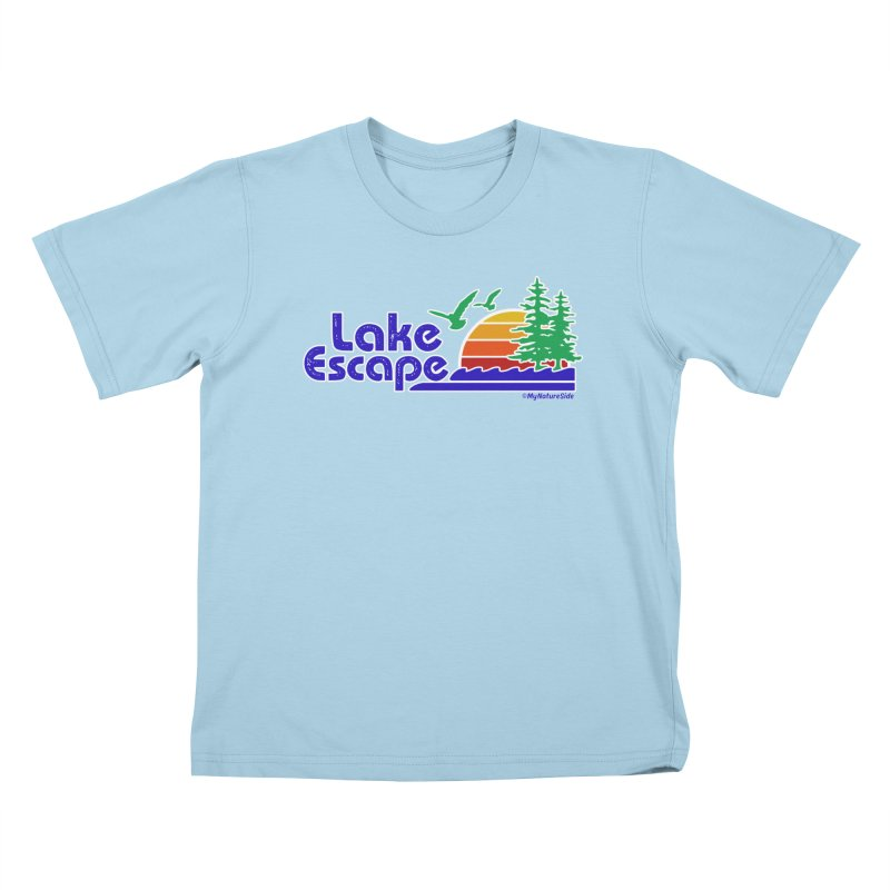 Lake Escape Kids T-shirt by My Nature Side