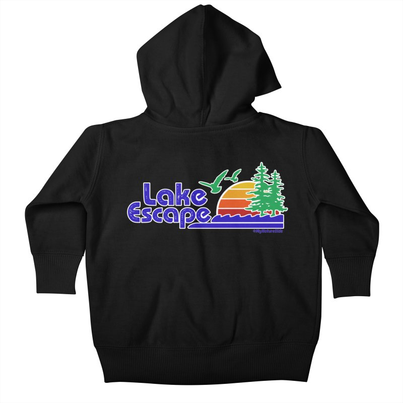 Lake Escape Kids Baby Zip-Up Hoody by My Nature Side