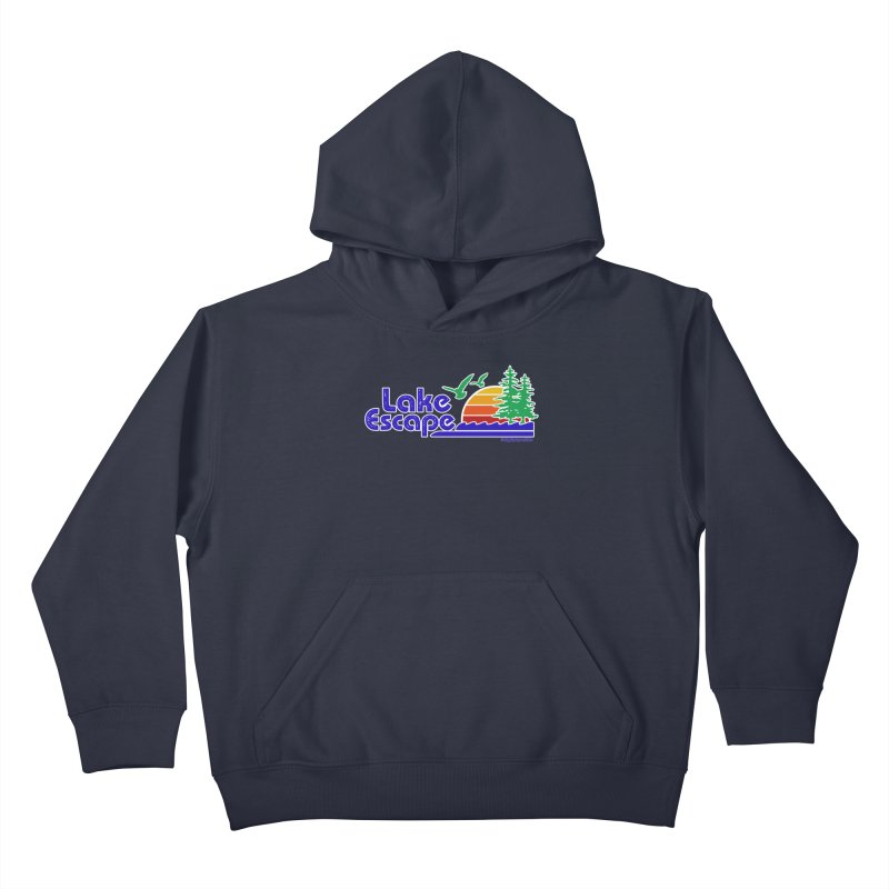 Lake Escape Kids Pullover Hoody by My Nature Side