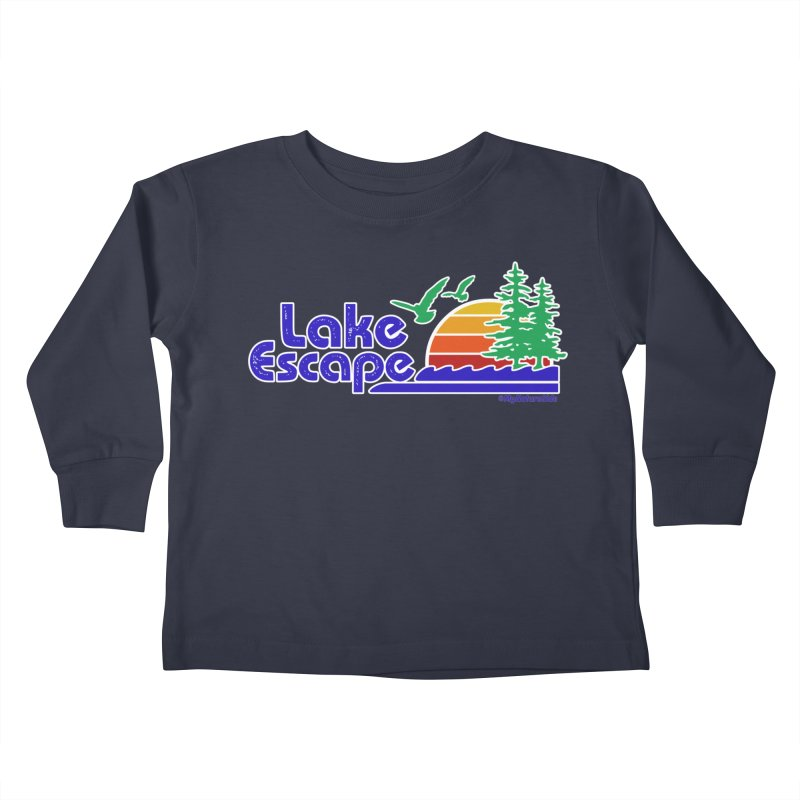 Lake Escape Kids Toddler Longsleeve T-Shirt by My Nature Side