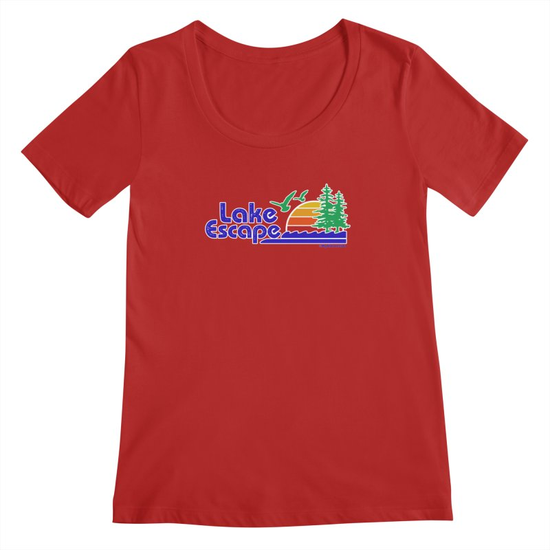 Lake Escape Women's Scoopneck by My Nature Side