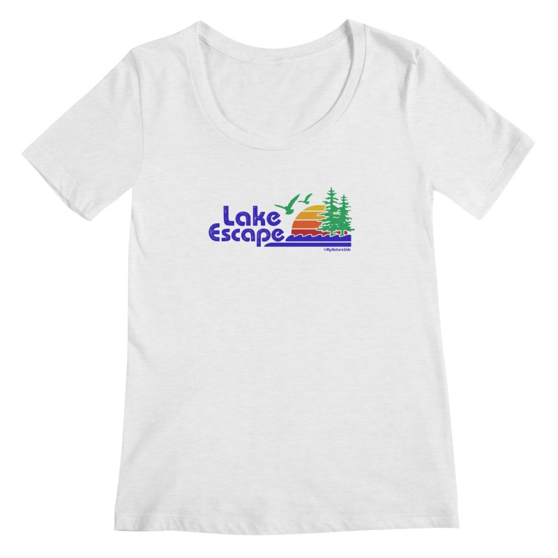 Lake Escape Women's Scoop Neck by My Nature Side