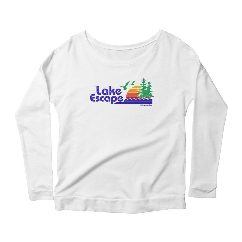 Lake Escape Women's Longsleeve Scoopneck  by My Nature Side