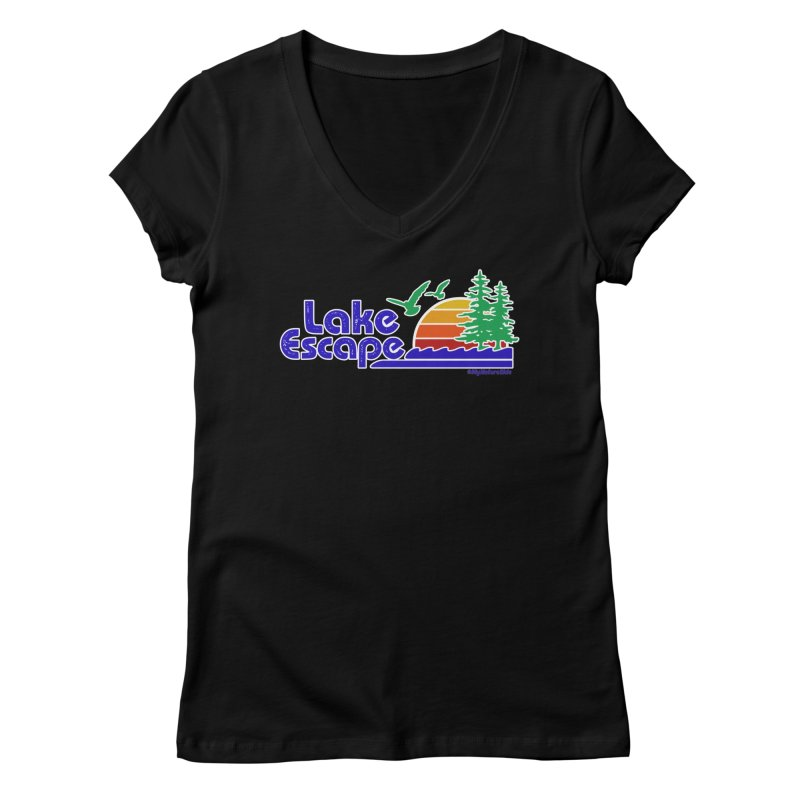 Lake Escape Women's V-Neck by My Nature Side