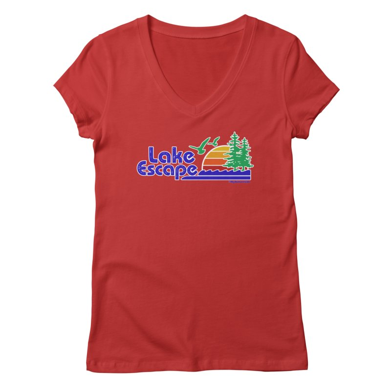 Lake Escape Women's Regular V-Neck by My Nature Side