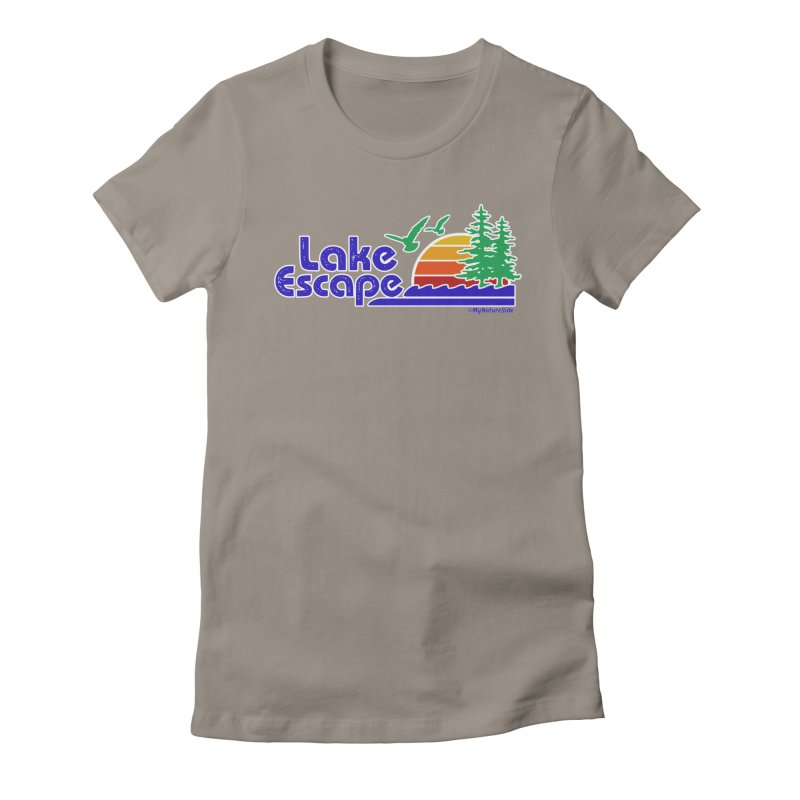 Lake Escape Women's Fitted T-Shirt by My Nature Side