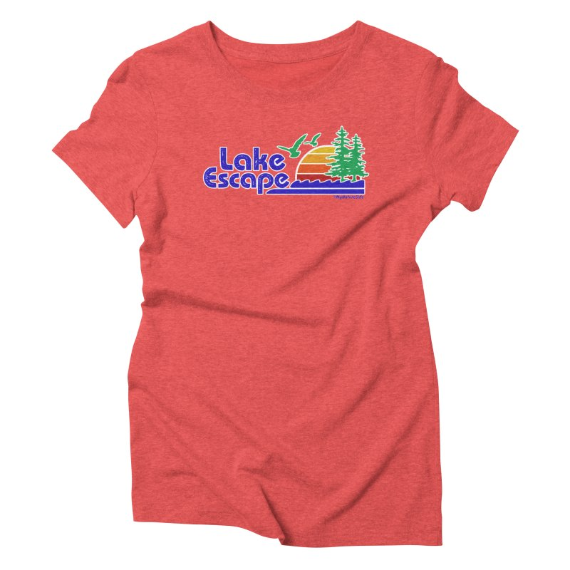 Lake Escape Women's Triblend T-Shirt by My Nature Side