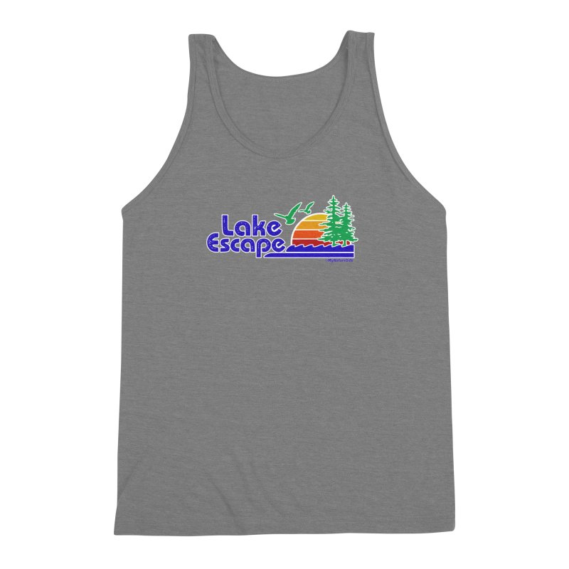 Lake Escape Men's Triblend Tank by My Nature Side