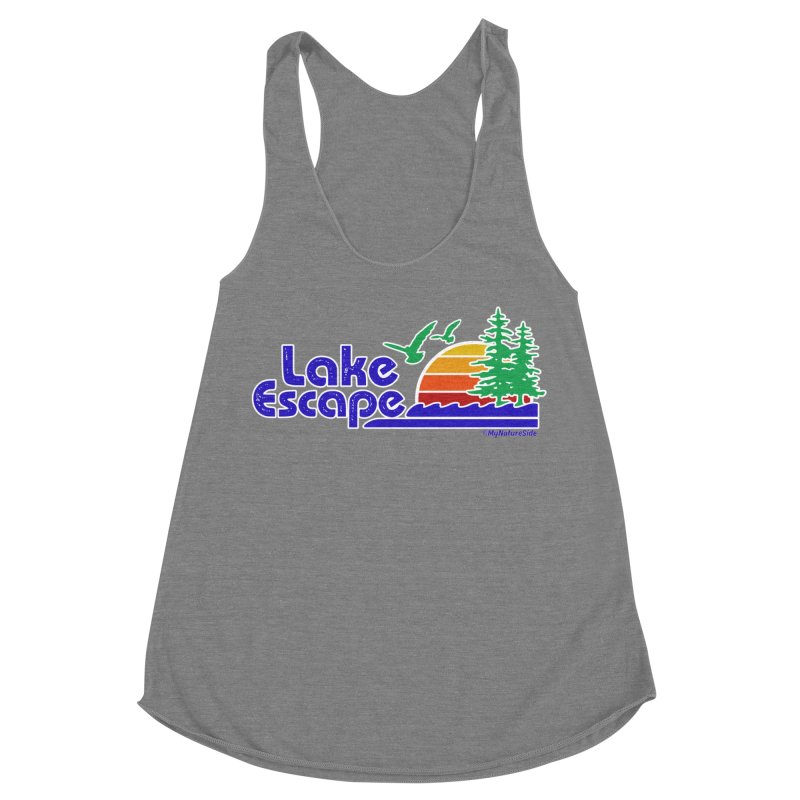 Lake Escape Women's Racerback Triblend Tank by My Nature Side