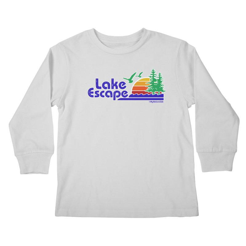 Lake Escape Kids Longsleeve T-Shirt by My Nature Side