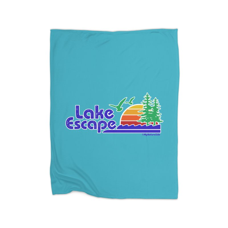 Lake Escape Home Fleece Blanket Blanket by My Nature Side