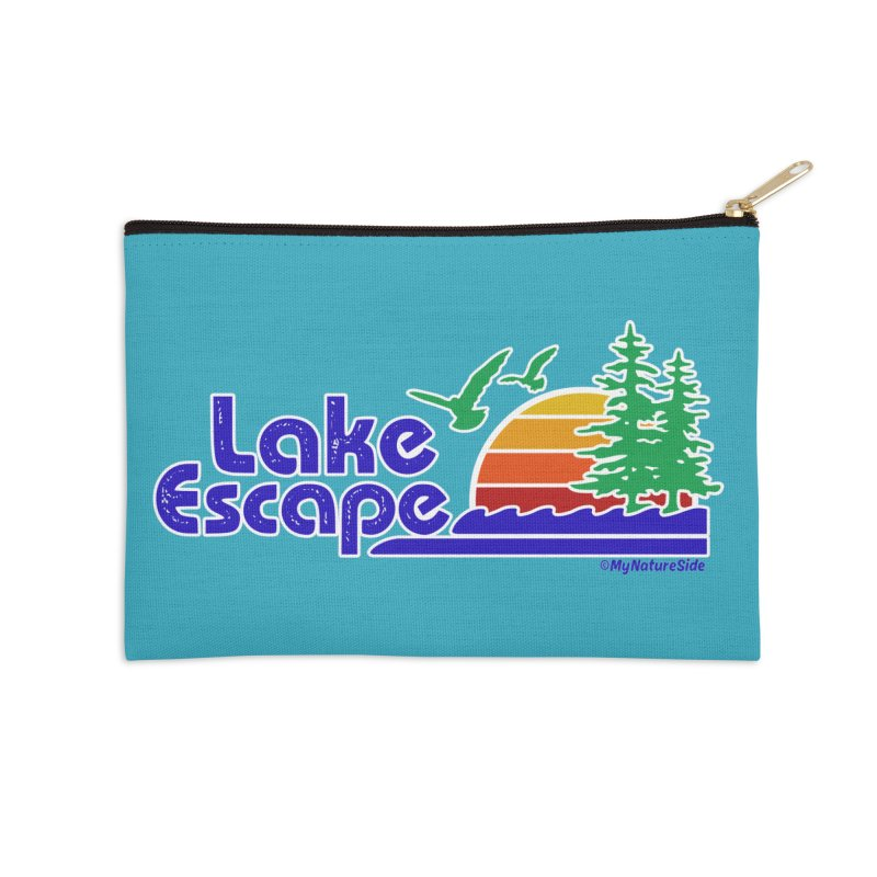 Lake Escape Accessories Zip Pouch by My Nature Side