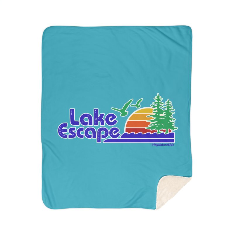 Lake Escape Home Sherpa Blanket Blanket by My Nature Side