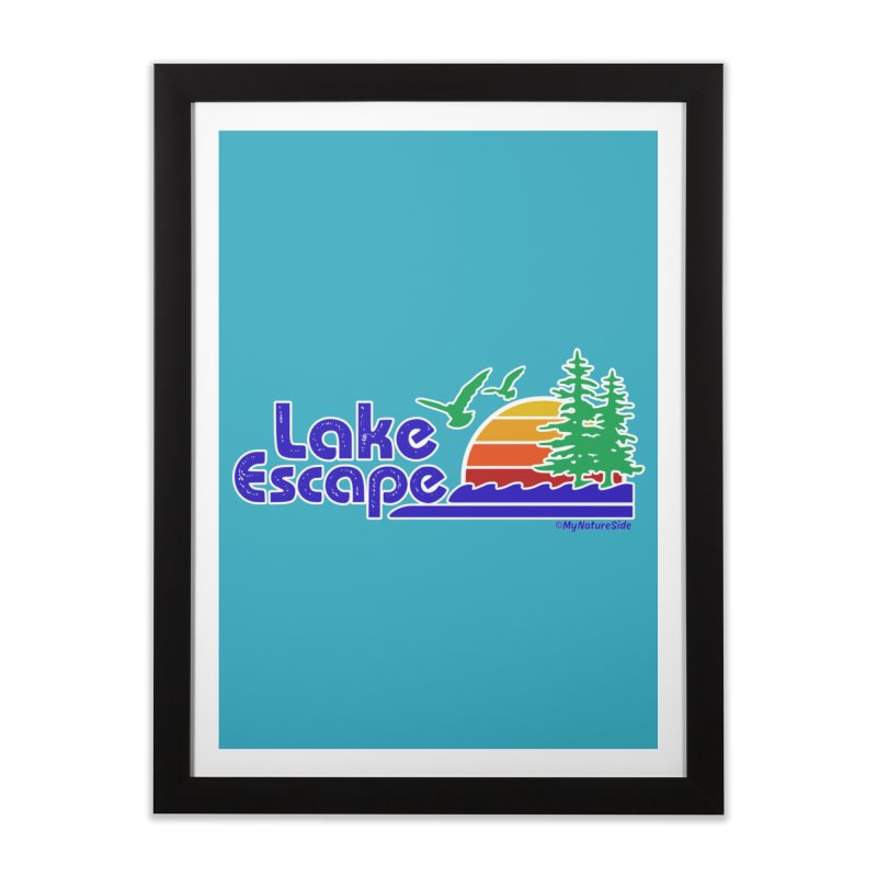 Lake Escape Home Framed Fine Art Print by My Nature Side
