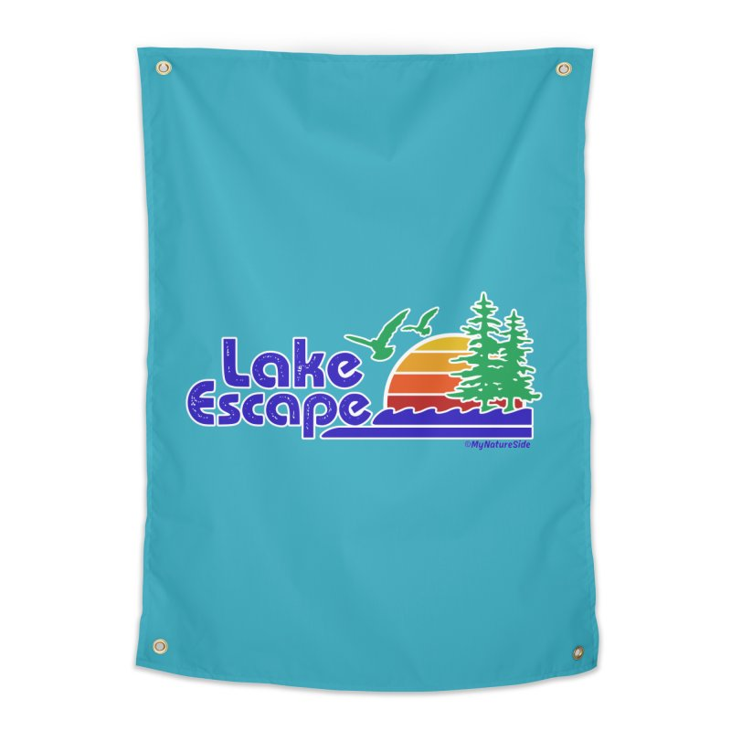 Lake Escape Home Tapestry by My Nature Side