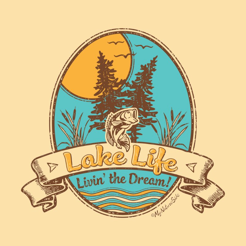 Lake Life - Living the Dream Home Blanket by My Nature Side